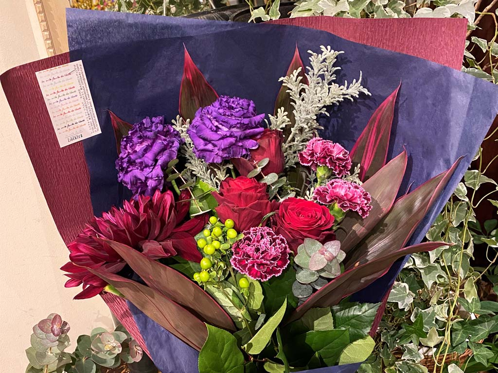 近くの花屋 レミルフォイユドゥリベルテ 丸の内店 オリジナル商品