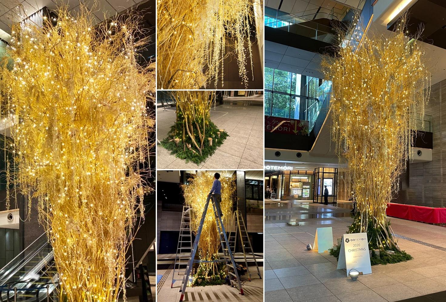 レミルフォイユドゥリベルテの生け込み、クリスマス装飾過去実績